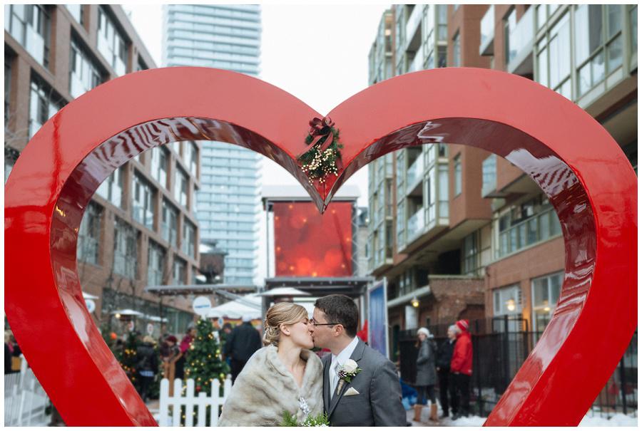 Toronto Christmas Market Wedding in the Distillery District
