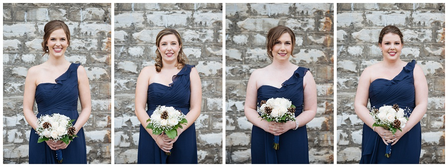 Toronto Christmas Market Wedding in the Distillery District. Wedding ceremony at Tappo, wedding reception at Archeo. Full of Lovely winter wedding details. Photographed by Caitlin Free Photography.