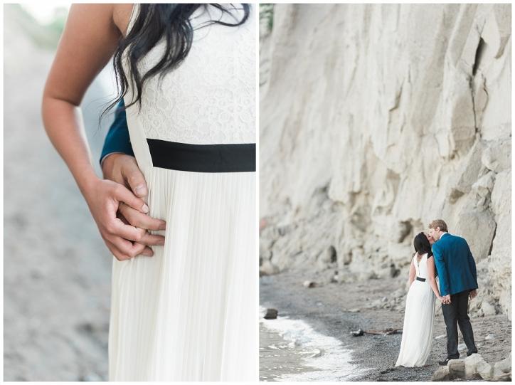 romantic scarborough bluffs engagement, romantic engagement locations toronto, scarborough bluffs engagement photos, toronto beach photos, romantic toronto beach photos