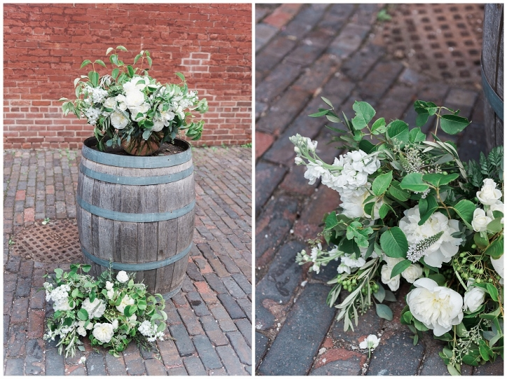 romantic toronto wedding photos, cool green and shady wedding bouquets, distillery district wedding photos, rustic bouquet for laid back bride