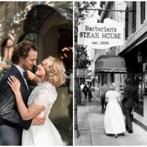 Toronto City Hall wedding, Barberian's Steak House wedding, retro modern bride, barberian's private wine cellar