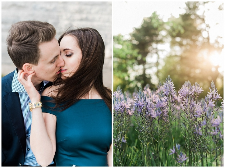 romantic niagara engagement photos, niagara photos spots, sun-kissed engagement photos