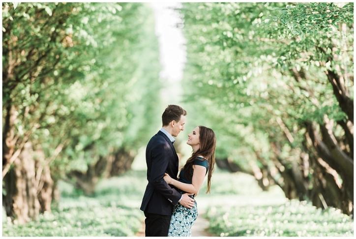 romantic niagara engagement photos, niagara photos spots, sun-kissed engagement photos, niagara botanical gardens engagement photos