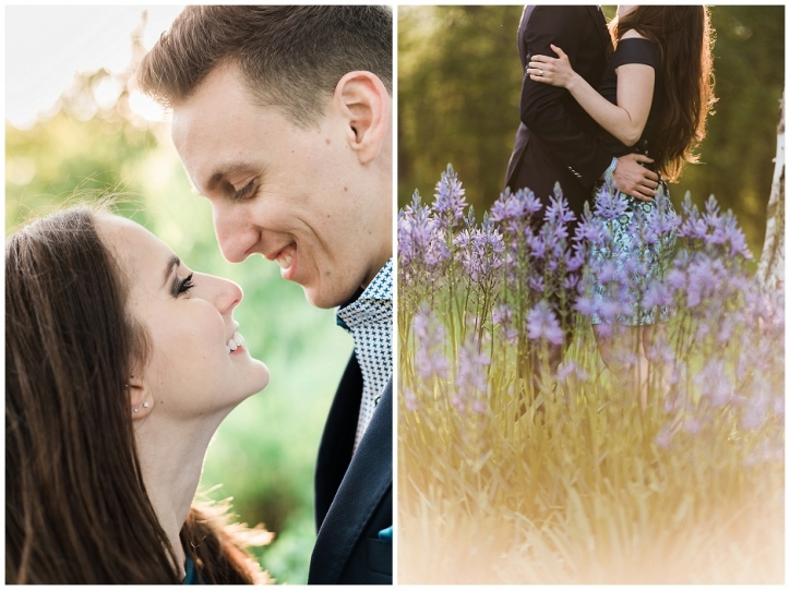 romantic niagara engagement photos, niagara photos spots, sun-kissed engagement photos, niagara botanical gardens engagement photo