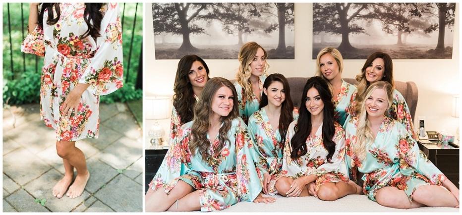 liberty grand wedding toronto, elegant wedding toronto, best toronto wedding photographer, floral robes bridesmaids