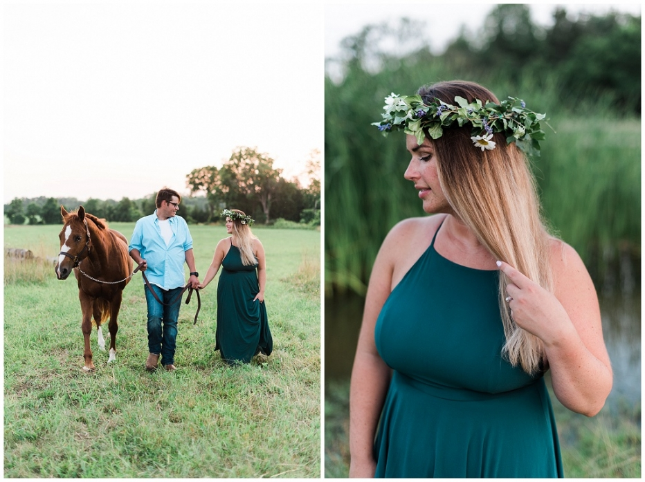 horse engagement session, romantic horse engagement session, golden hour engagement session, hamilton wedding photographer, hamilton engagement session
