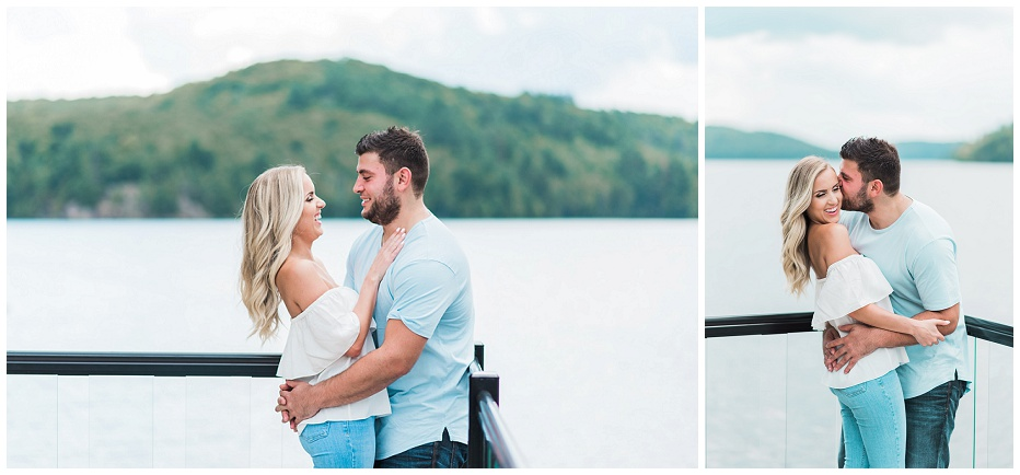 Muskoka engagement session; muskoka wedding photographer; muskoka wedding photos; best muskoka wedding photographer; muskoka wedding locations; whistle bear golf club wedding photos; bonfire engagement session; puppy engagement session, whistle bear wedding photos, cambridge wedding photographer