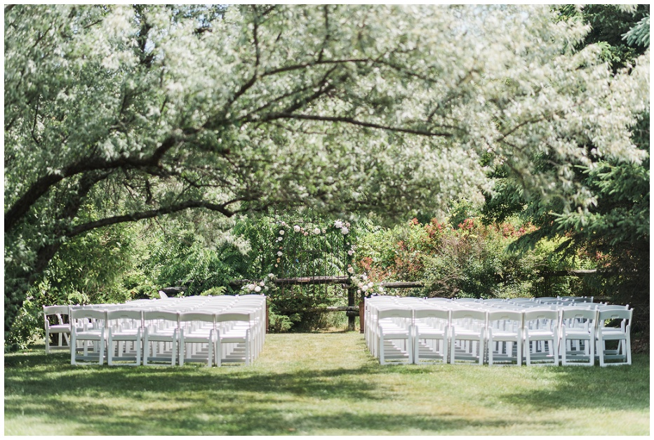Kurtz Orchard Market outdoor ceremony space under the trees