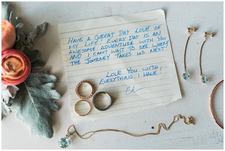 Romantic note that groom wrote for bride before Toronto City Hall wedding